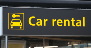 Car rental sign at airport