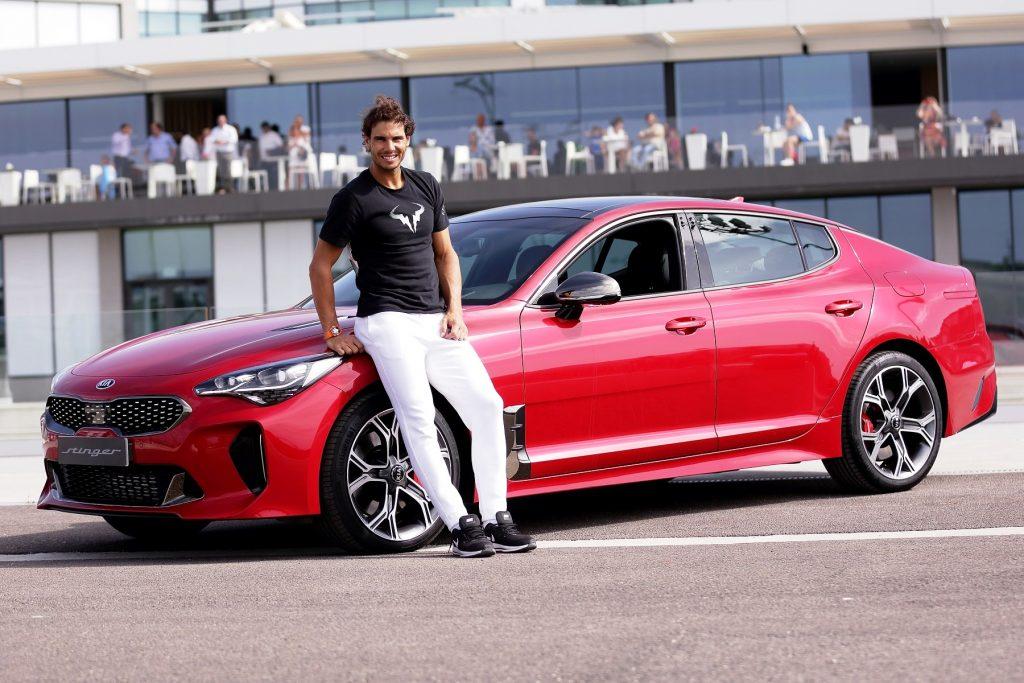 New Kia Stinger sets Rafael Nadal's heart racing