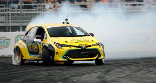 Drift champ Fredric Aasbo with his Toyota Auris