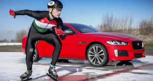 Jaguar XE 300 Sport vs Olympic speed skater