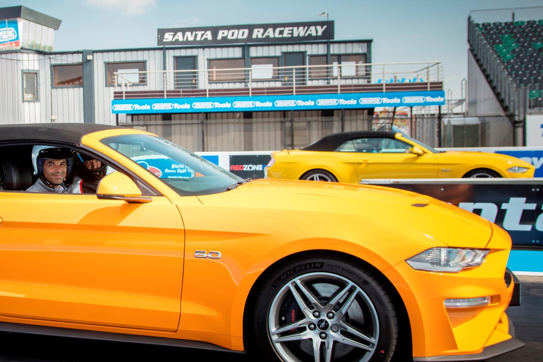 Gareth Herincx Ford Mustang Santa Pod
