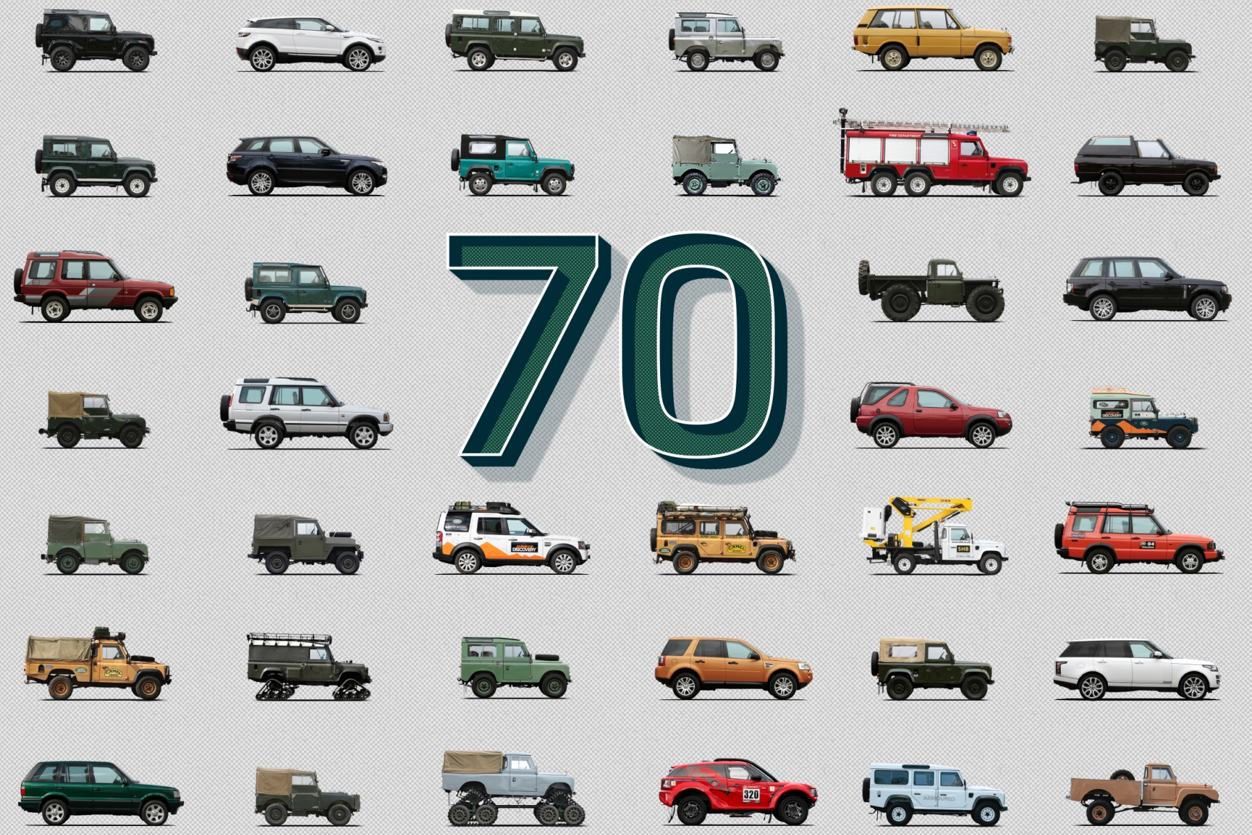 Land Rover celebrates 70 years