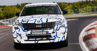 Sabine Schmitz drives the Skoda Kodiaq vRS