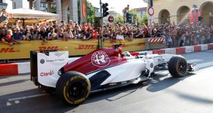 Alfa Romeo Sauber F1 team in Milan