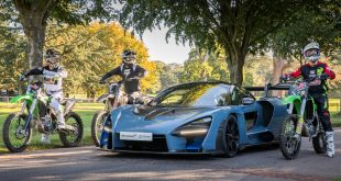 McLaren Senna races dirt bikes at Goodwood