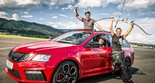 Skoda Octavia arrow shoot record breaker