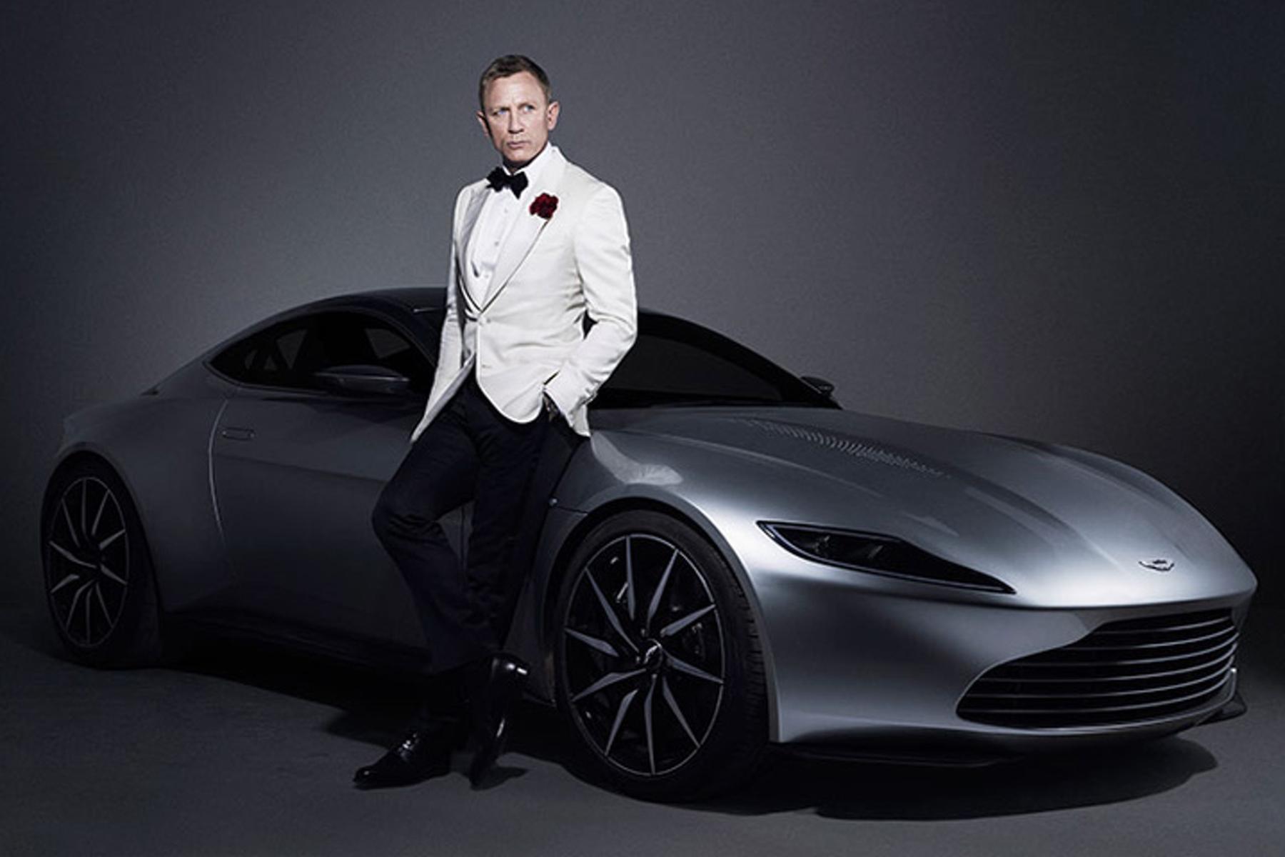 Aston Martin DB10 with Daniel Craig from Spectre