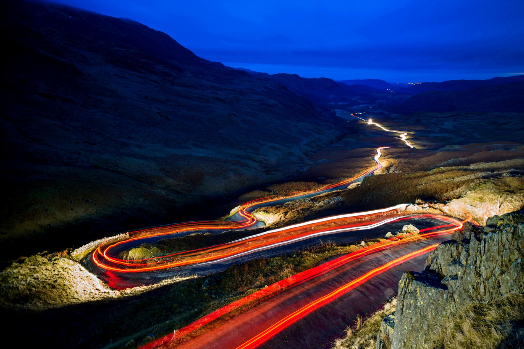 Best driving road, Hardknott Pass - Lake District, Cumbria