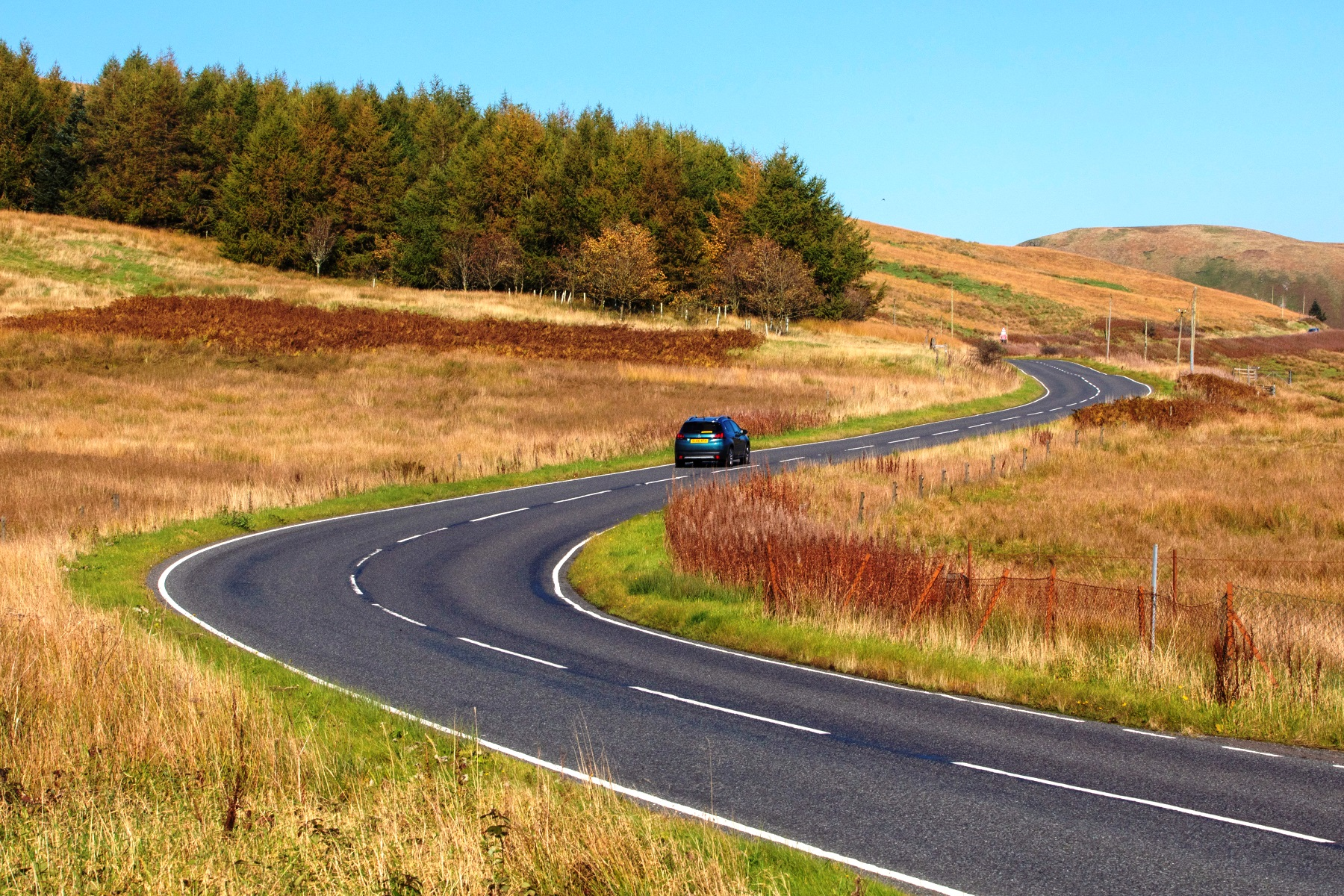 The A701 from Moffat to Edinburgh in the Scottish Borders, which is one of the UKs best driving roads