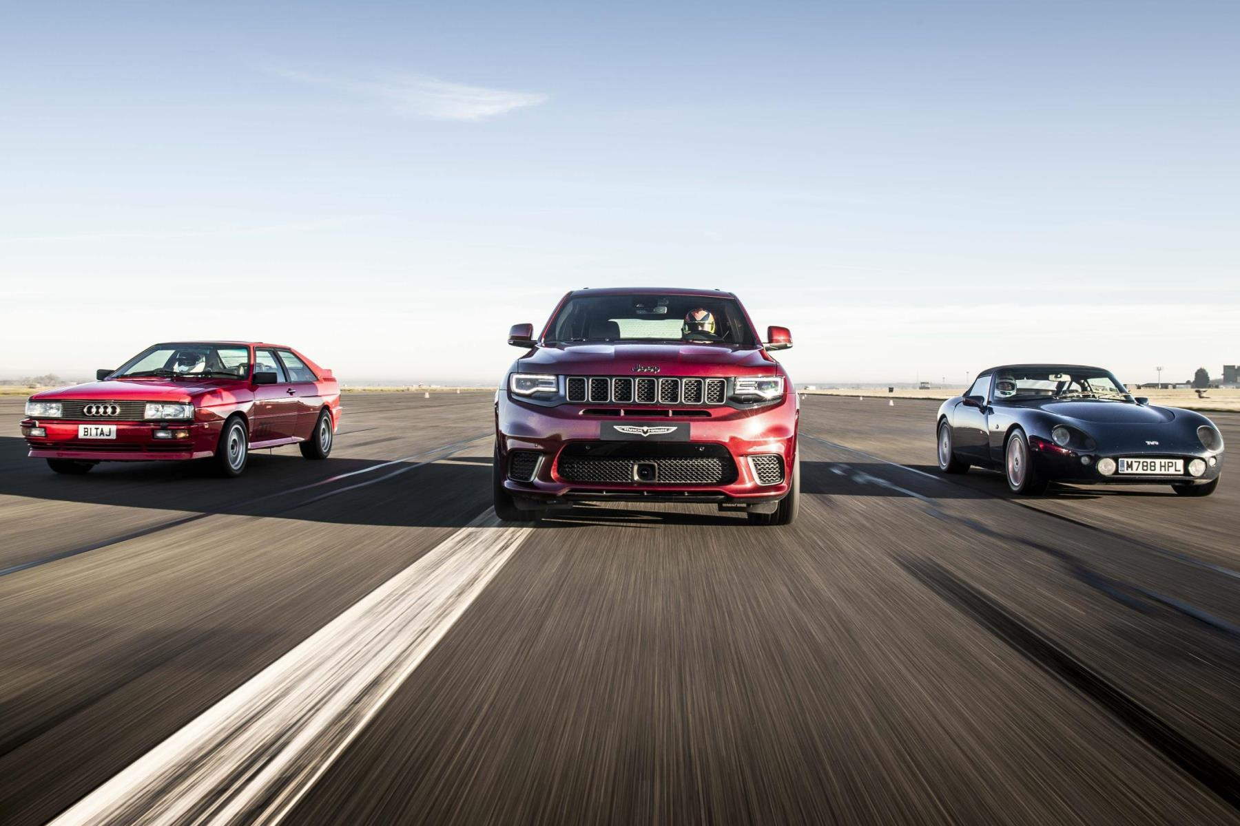 Jeep Grand Cherokee Trackhawk vs Audi Quattro and TVR Griffith