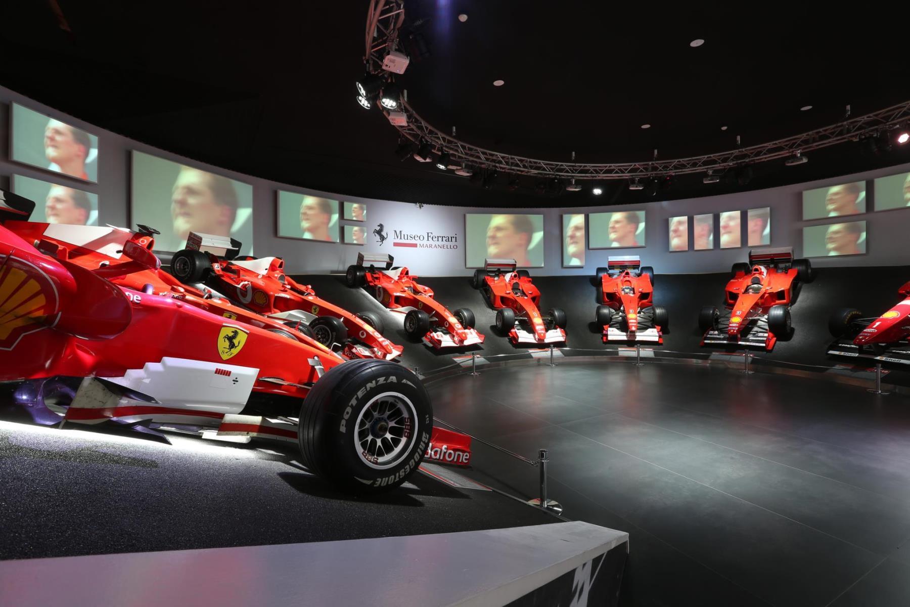 Ferrari's Michael 50 Schumacher exhibition