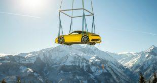 Porsche 911 Alpine stunt