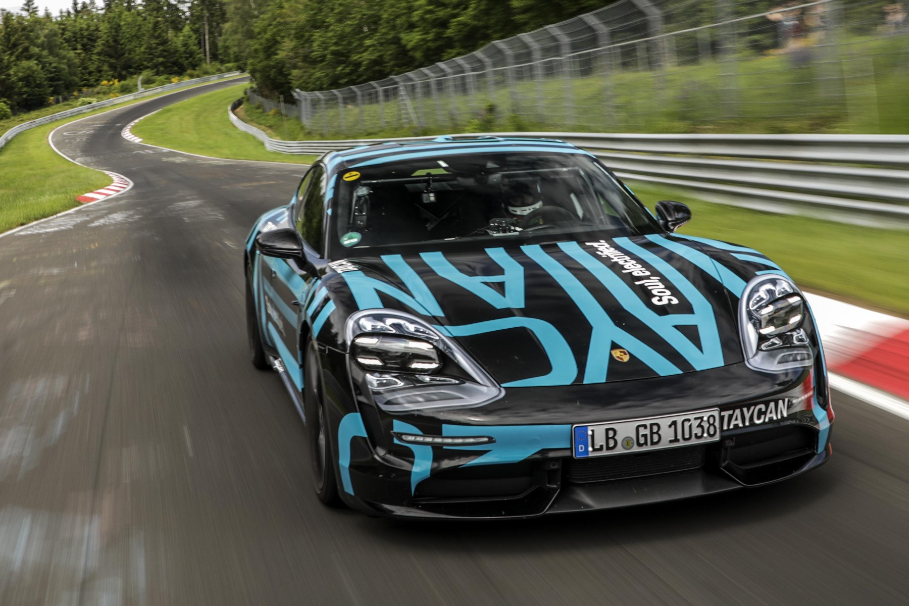 Porsche's electric Taycan sets record at the 'Ring