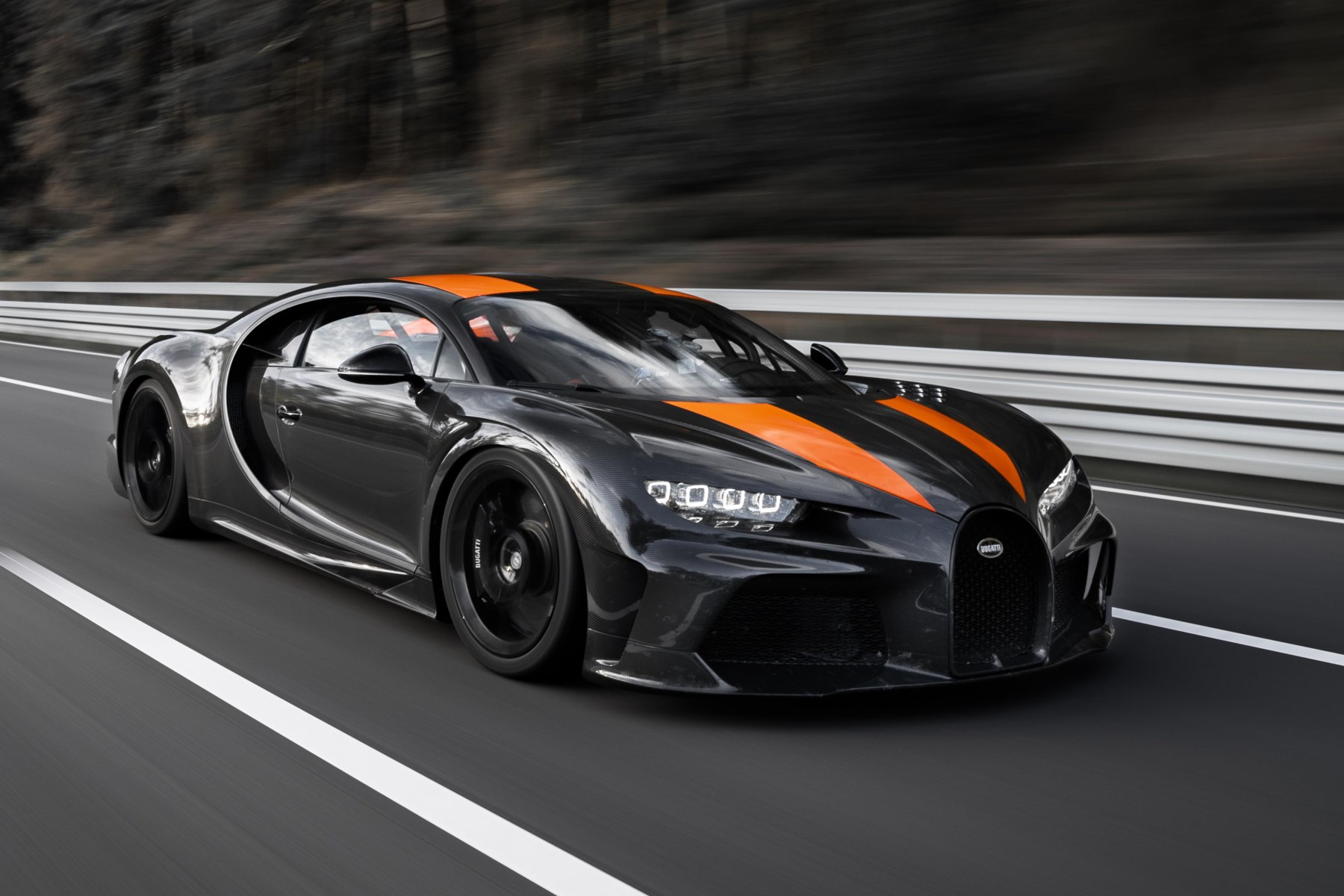 A modified Bugatti Chiron hits speeds in excess of 300mph